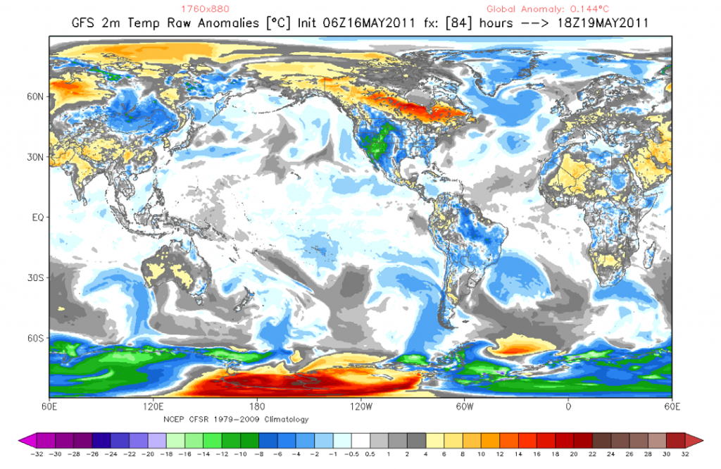 Global temperature anomaly for midday Wednesday in Arizona - From R. Moue at Florida State University