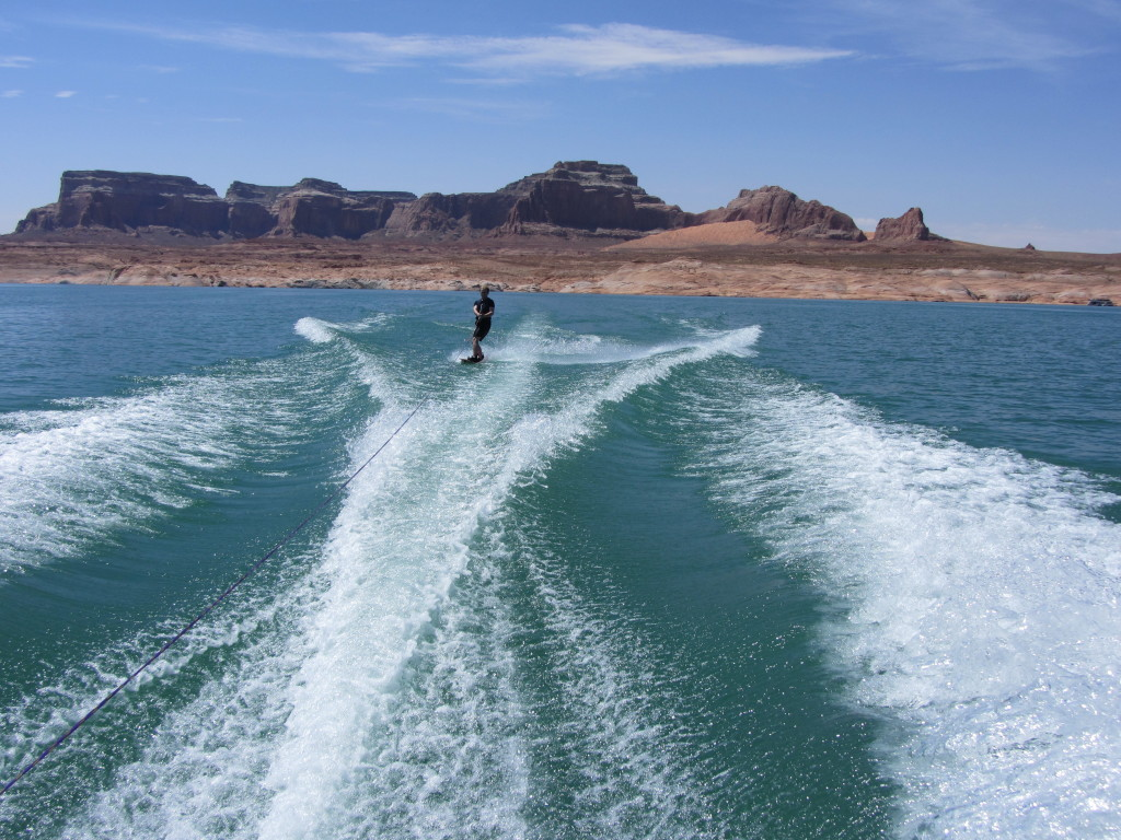 Waterskiing at Lake Powell